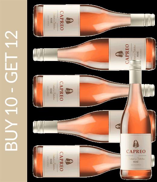 Wein des Monats Januar CAPREO Vintner's Selection Rosé 2018 - Buy 10 get 12