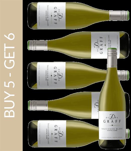 Wein des Monats März Delaire Graff Coastal Cuvée Sauvignon Blanc - Buy 5 get 6