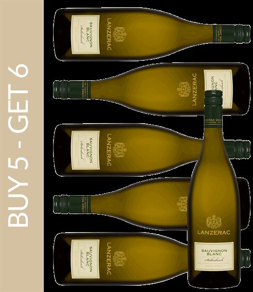 Wein des Monats Juni Lanzerac Sauvignon Blanc 2018 - Buy 5 get 6