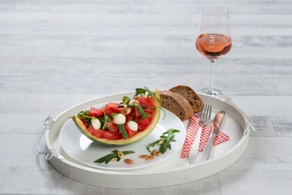 Sommersalat-mit-Rucola-und-Wassermelone