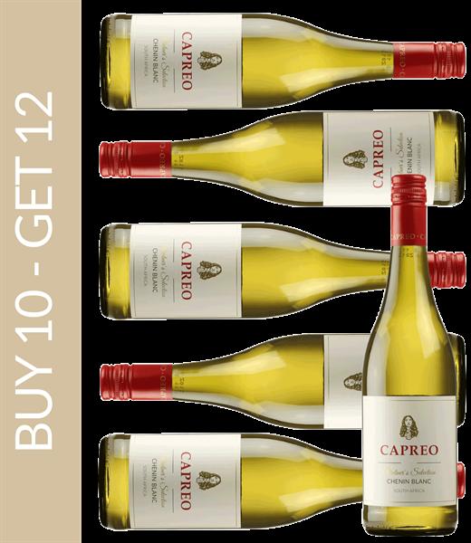 Wein des Monats Januar CAPREO Vintner's Selection Chenin Blanc 2018 - Buy 10 get 12