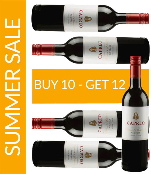 Summer Sale CAPREO Vintner's Selection Pinotage 2016 Buy 10 get 12