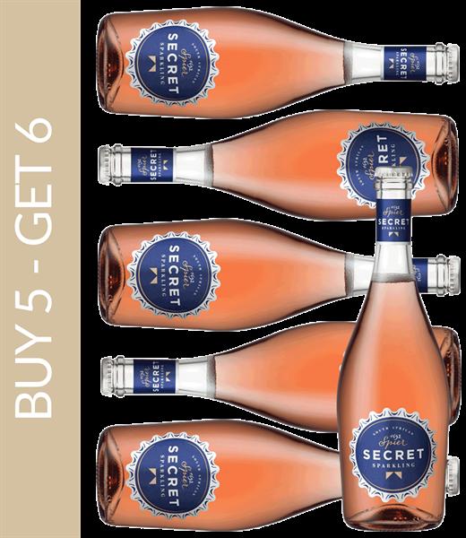 Wine of the Month May Spier Secret Sparkling Rosé - Buy 5 get 6