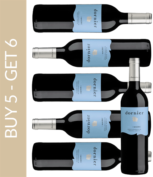 Wein des Monats Februar Dornier Malbec 2015 - Buy 5 get 6