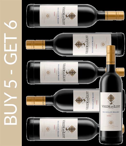 Wine of the Month September Vrede en Lust Mocholate Malbec 2017 – Buy 5 get 6